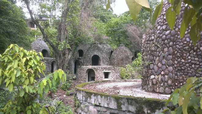 Meditation pods where Babas used to live