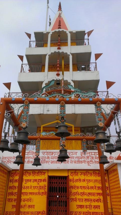 Shiva's Temple and view of Rishikesh