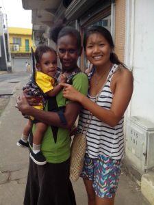 Host Mama and Junior